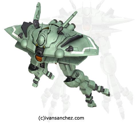 Gundam ver KA Big Zam 3d gundam mesh cg sandrum