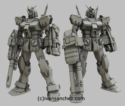 mobile suit gundam full armor gundam katoki hajime 3d mesh cg sandrum