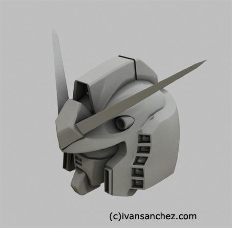 gundam rx-78-2 3d mesh cg sandrum