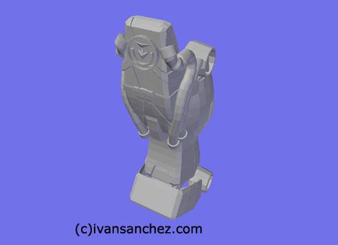 shin musha gundam 3d mesh cg sandrum