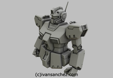 sandrum lightwave gundam gm 3d command kai mesh