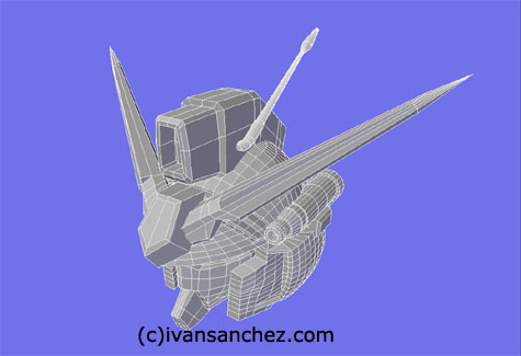 gp01 gundam fb 3d mesh cg sandrum