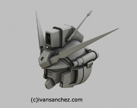 zepheranthes gp01 gundam 3d mesh cg sandrum