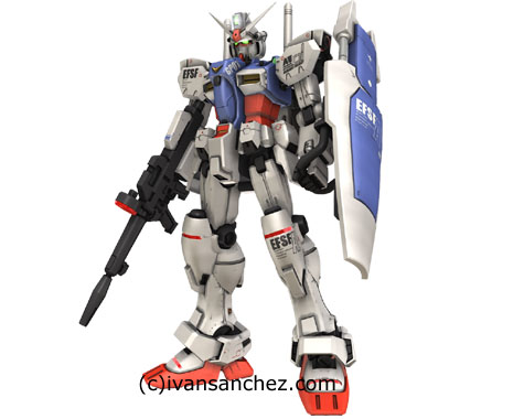gp01 gundam zepheranthes 3d mesh cg sandrum