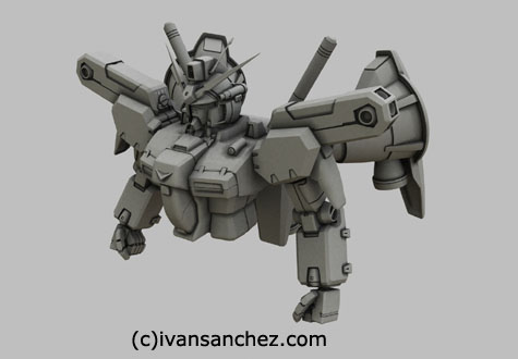 gp01 gp01fb Zephyranthes Full Vernian Burner gundam 0083 3d mesh cg sandrum