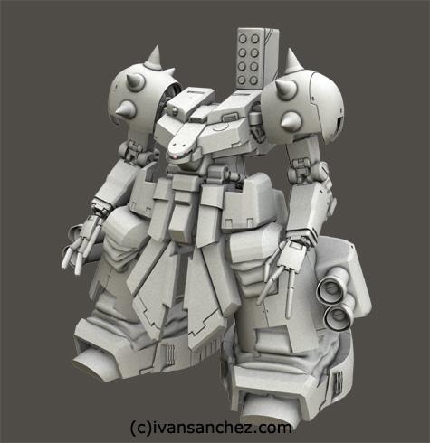 mobile suit gundam 0083 stardust memories rick dom xamel 3d mesh cg sandrum
