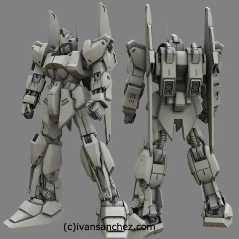mobile suit delta zeta gundam char's quatro bajeena hyaku shiki kai  plus 3d mesh cg sandrum