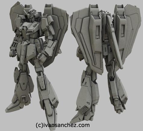mobile suit delta zeta gundam char's quatro bajeena hyaku shiki kai version 2 plus 3d mesh cg sandrum