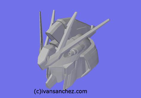 mobile suit char's counterattack hi nu hi-nu  gundam 3d mesh cg sandrum