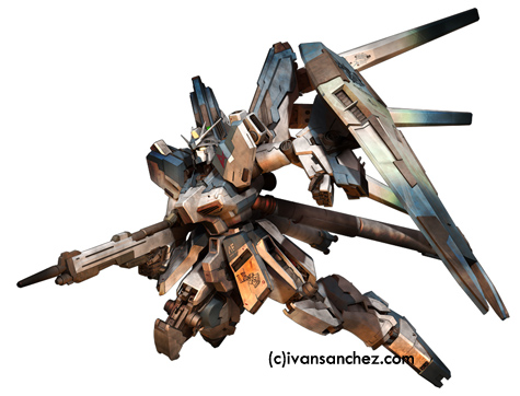mobile suit Vicious project hi-nu  gundam char's counterattack nightingale 3d mesh cg sandrum
