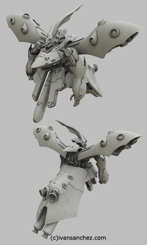 mobile suit gundam char's counterattack beltorchikas children hi nu hi-nu nightingale sazabi 3d mesh cg sandrum