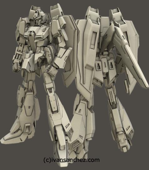 mobile suit delta plus zeta gundam char's quatro bajeena hyaku shiki kai  plus 3d mesh cg sandrum