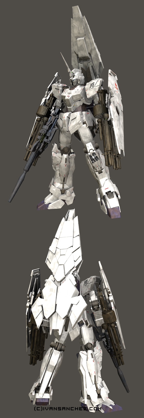 mobile suit gundam Shield Booster Armed Armor DE 3d mesh cg sandrum full armor unicorn shield parts
