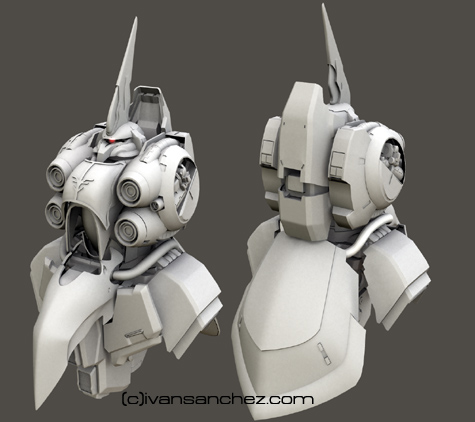 mobile suit gundam Unicorn Destroy mode 3d mesh cg sandrum Kshatriya