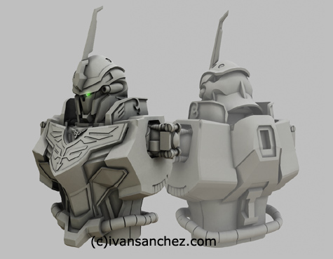 mobile suit gundam unicorn shinanju MG katoki 3d mesh cg sandrum