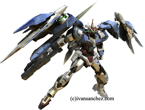 mobile suit Vicious project hi-nu gundam 00 raiser 3d mesh cg sandrum