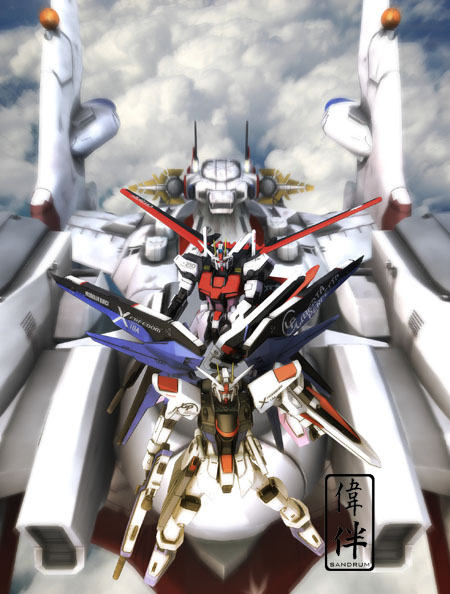 freedom strike rouge archangel gundam 3d mesh cg sandrum