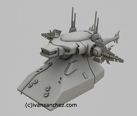 archangel bridge 3d lightwave gundam mesh sandrum
