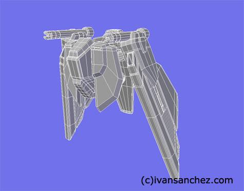 freedom gundam 3d mesh sandrum