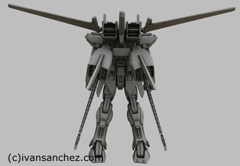 strike gundam aile test 3d mesh sandrum