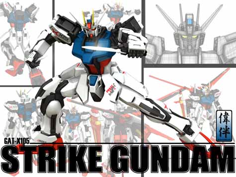 CG strike gundam 3d mesh sandrum