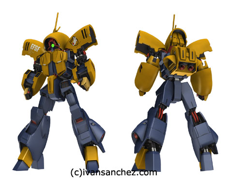 asshimar keehar advance of z 3d gundam mesh cg sandrum