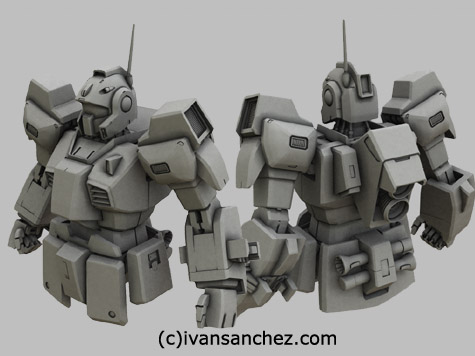 mobile suit advance of zeta gundam nemo  3d mesh cg sandrum