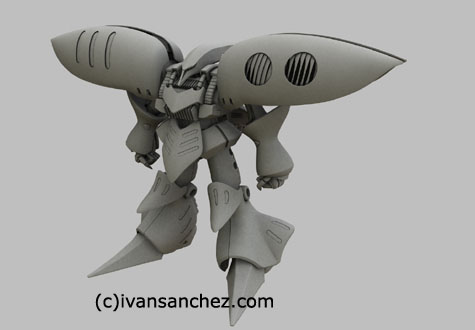 zeta gundam qubeley mkII advance of z 3d mesh cg sandrum