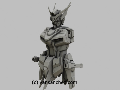 mobile suit gundam akatsuki shiranui oowashi owashi destiny seed mode 3d mesh cg sandrum