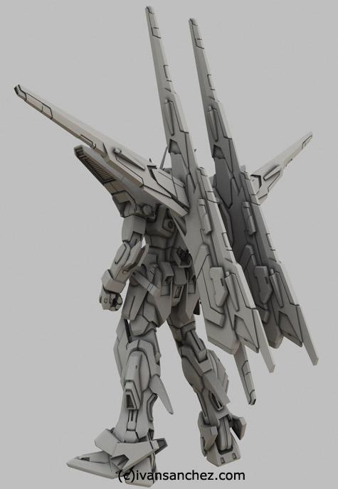 mobile suit gundam akatsuki oowashi owashi shiranui mode 3d mesh cg sandrum