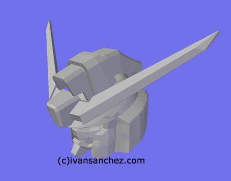 destiny gundam MG 3d mesh cg sandrum