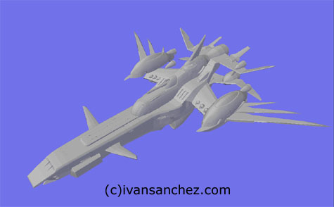 Eternal Ship gundam seed 3d mesh cg sandrum