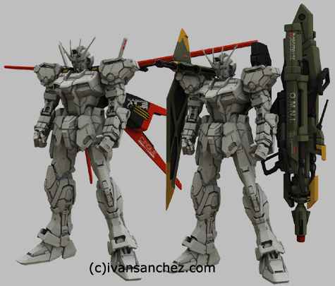 mobile suit gundam seed destiny infinite justice strike EVOLVE Perfect Grade PG freedom MG 3d mesh cg sandrum