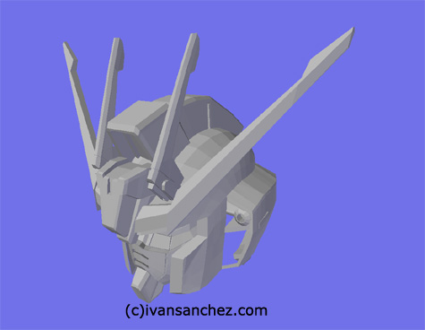 mobile suit gundam seed destiny infinite justice strike freedom MG 3d mesh cg sandrum