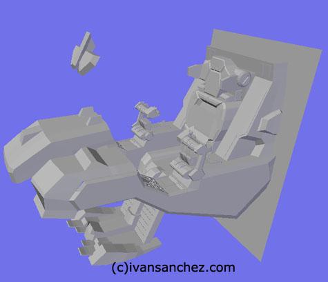 cockpit Strike Freedom gundam seed 3d mesh cg sandrum