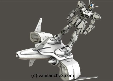 mobile suit gundam seed destiny guul MG katoki 3d mesh cg sandrum