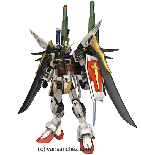 impulse gundam destiny 3d mesh cg sandrum