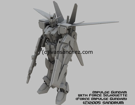 mobile suit gundam seed destiny force sword blast impulse 3d mesh cg sandrum