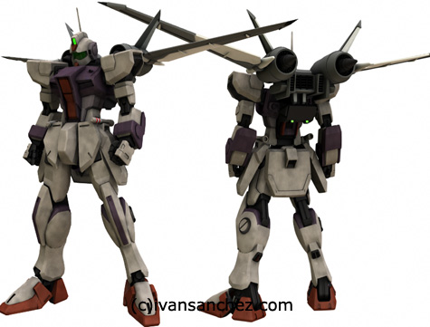 mobile suit gundam seed destiny PG evolve strike freedom MG 3d mesh cg sandrum