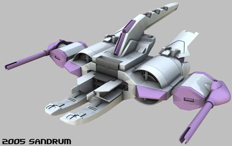 METEOR Gundam seed 3d mesh cg sandrum