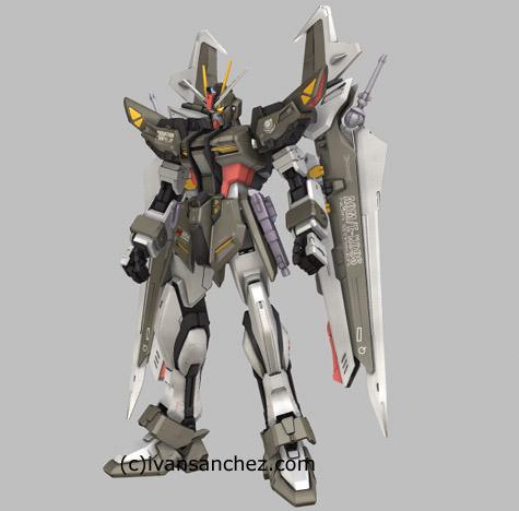 mobile suit gundam seed destiny stargazer strike noir 3d mesh cg sandrum