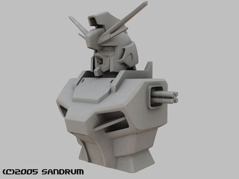 raider gundam seed 3d mesh cg sandrum