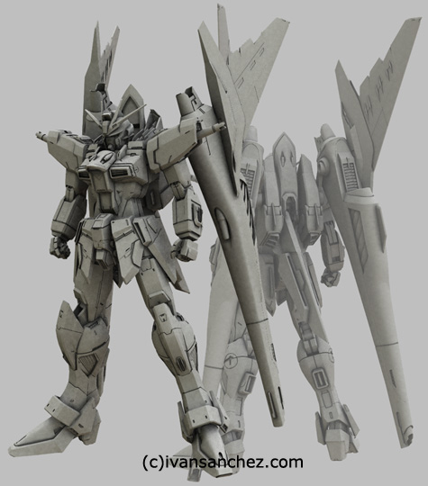mobile suit gundam seed destiny saviour impulse gundam force sword blast 3d mesh cg sandrum
