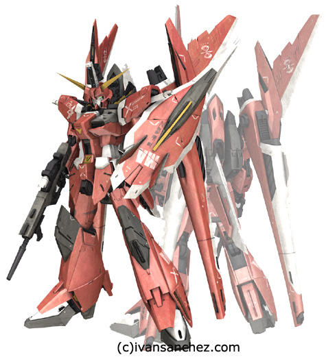 mobile suit gundam seed destiny saviour impulse gundam force sword blast 3d mesh cg sandrum