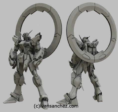 mobile suit gundam seed destiny saviour impulse gundam force sword blast 3d mesh cg sandrum stargazer noir strike