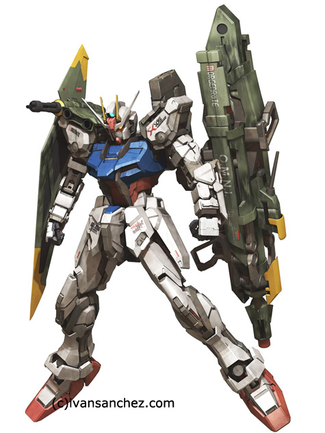 mobile suit gundam seed strike evolve gundam launcher destiny 3d mesh cg sandrum