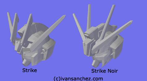 strike noir gundam 3d mesh cg sandrum