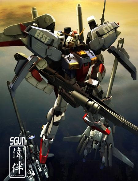Ex-S S-Gundam MKII gundam 3d mesh cg sandrum