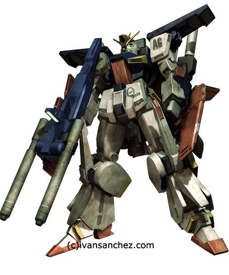 mobile suit gundam ZZ Gundam mesh zeta double zeta 3d mesh cg sandrum