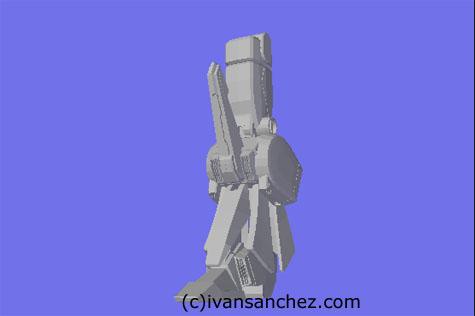 ZZ FAZZ Double Zeta gundam seed 3d mesh cg sandrum